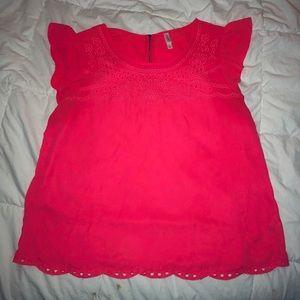 Xhilaration: Red/Pink Blouse